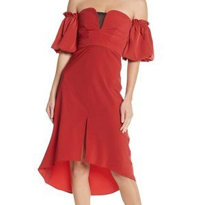 NWT TOPSHOP High/Low Off-The-Shoulder Dress - 12